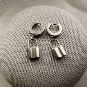 Jewelry - Stainless Steel Lock Earrings *NEW*